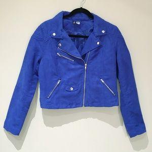 3/$20 Divided by H&M Size 12 Blue Zipper Blazer